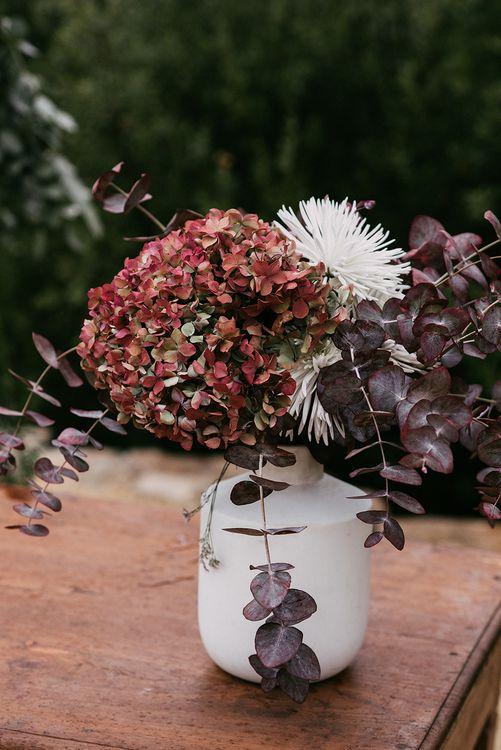 Hydrangea Flowers   Stylish Outdoor Wedding at Masia Casa del Mar in Barcelona, Spain   Sara Lobla Photography   Made in Video Film