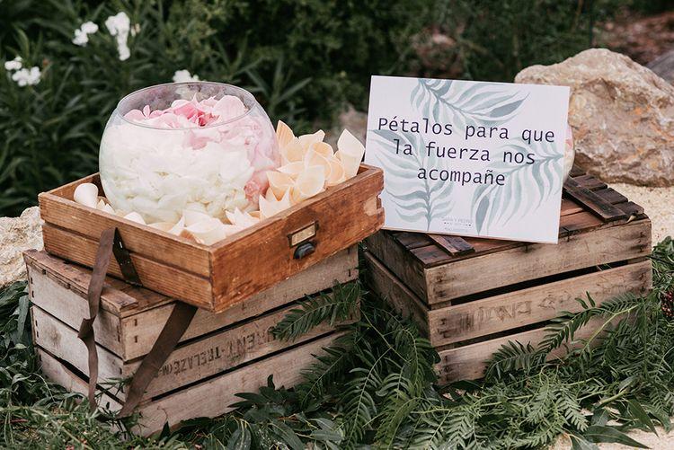 Confetti Bowl   Stylish Outdoor Wedding at Masia Casa del Mar in Barcelona, Spain   Sara Lobla Photography   Made in Video Film