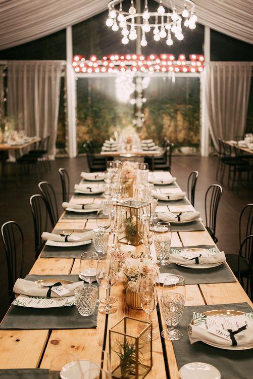 Elegant Table Scape   Stylish Outdoor Wedding at Masia Casa del Mar in Barcelona, Spain   Sara Lobla Photography   Made in Video Film
