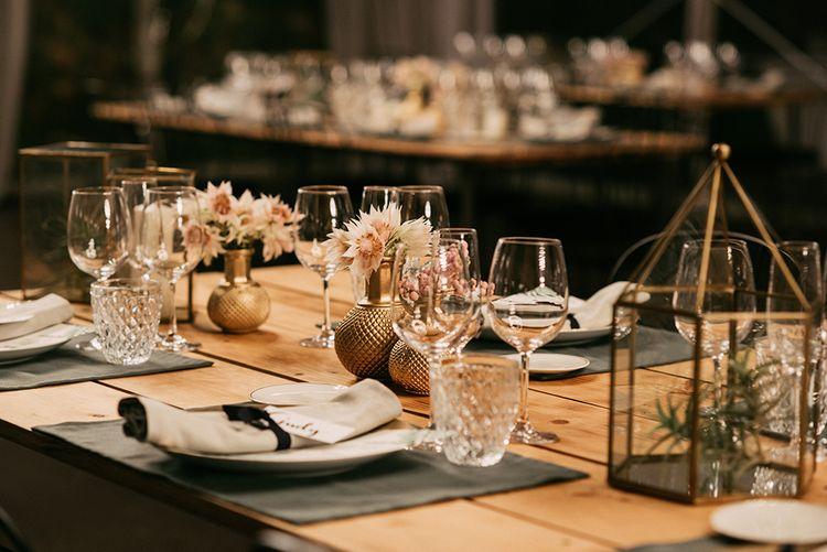 Elegant Tablescape Decor   Stylish Outdoor Wedding at Masia Casa del Mar in Barcelona, Spain   Sara Lobla Photography   Made in Video Film