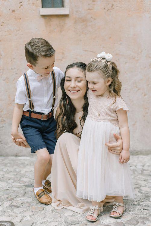 Siblings | Elegant Family Destination Wedding at Malcesine in Italy, Planned by Lake Garda Weddings | Georgina Harrison Photography