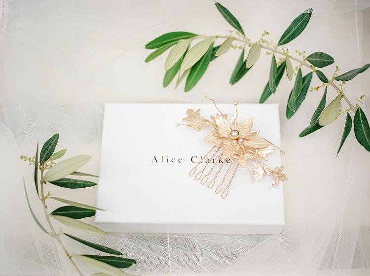 Hair Comb | Elegant Family Destination Wedding at Malcesine in Italy, Planned by Lake Garda Weddings | Georgina Harrison Photography