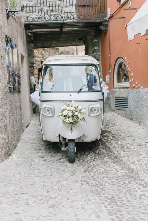 Tuc Tuc | Elegant Family Destination Wedding at Malcesine in Italy, Planned by Lake Garda Weddings | Georgina Harrison Photography