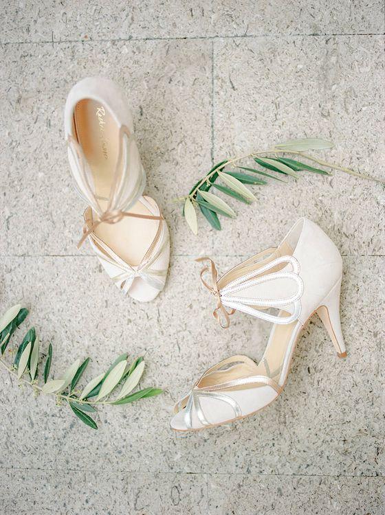 Rachel Simpson Bridal Shoes | Elegant Family Destination Wedding at Malcesine in Italy, Planned by Lake Garda Weddings | Georgina Harrison Photography