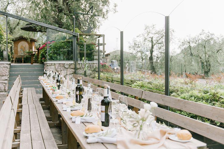 Outdoor Reception | Elegant Family Destination Wedding at Malcesine in Italy, Planned by Lake Garda Weddings | Georgina Harrison Photography