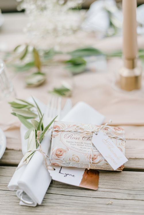 Soap Wedding Favours | Elegant Family Destination Wedding at Malcesine in Italy, Planned by Lake Garda Weddings | Georgina Harrison Photography