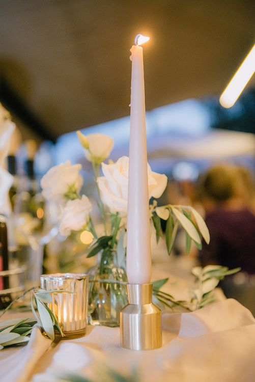 Tapered Candle | Elegant Family Destination Wedding at Malcesine in Italy, Planned by Lake Garda Weddings | Georgina Harrison Photography
