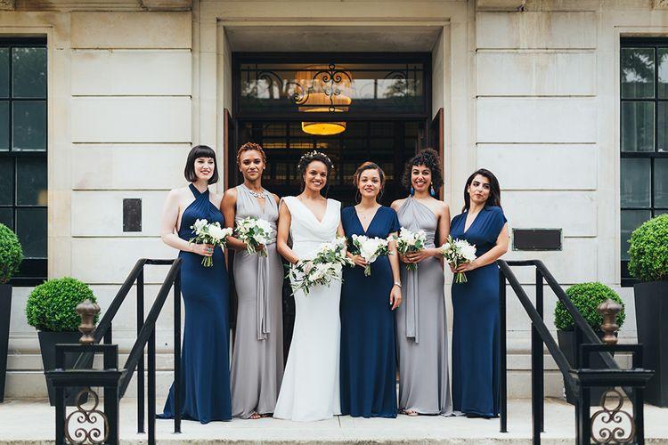 Navy & Silver Bridesmaids