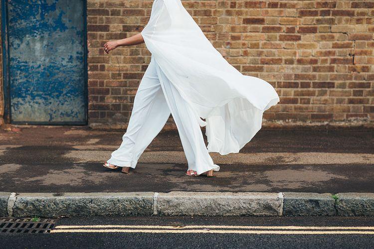 Bride in AQAQ Jumpsuit