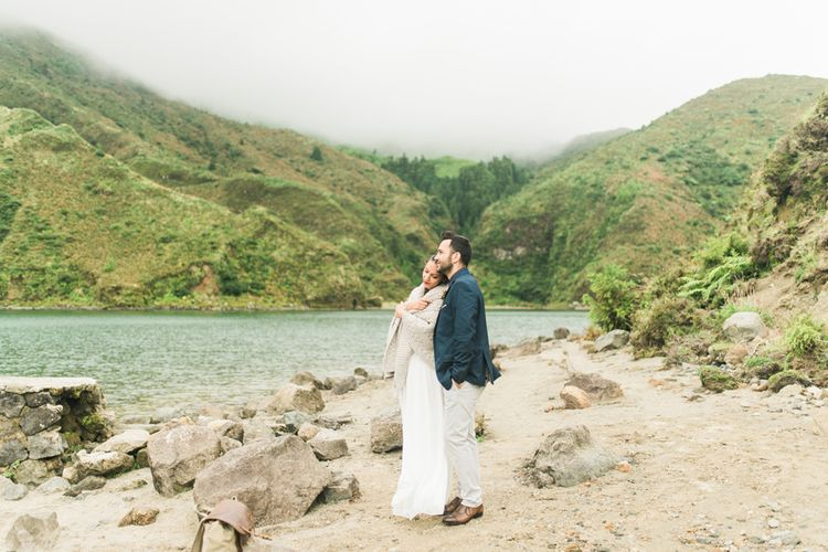Volcano Elopement Wedding On The Azores Islands Portugal With Bride In ASOS And With Images From Adriana Morais Photography
