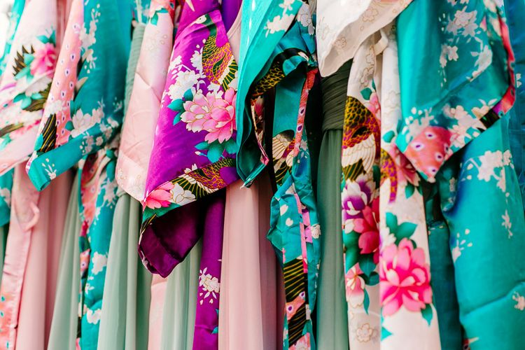 Getting Ready Robes   Brightly Coloured Woodland Wedding   Epic Love Story Photography