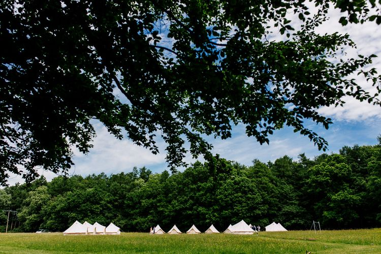 Bell Tents   Brightly Coloured Woodland Wedding   Epic Love Story Photography