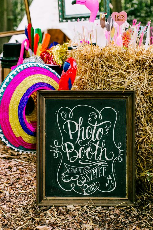 Chalkboard Sign   Brightly Coloured Woodland Wedding   Epic Love Story Photography