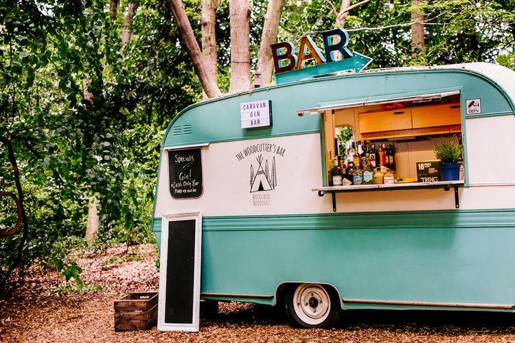 Caravan Bar   Woodland Weddings   Epic Love Story Photography