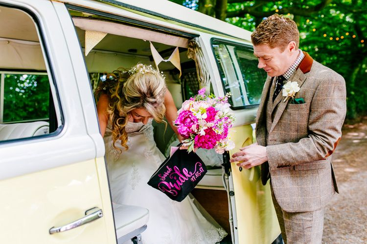 Bridal Entrance   Brightly Coloured Woodland Wedding   Epic Love Story Photography