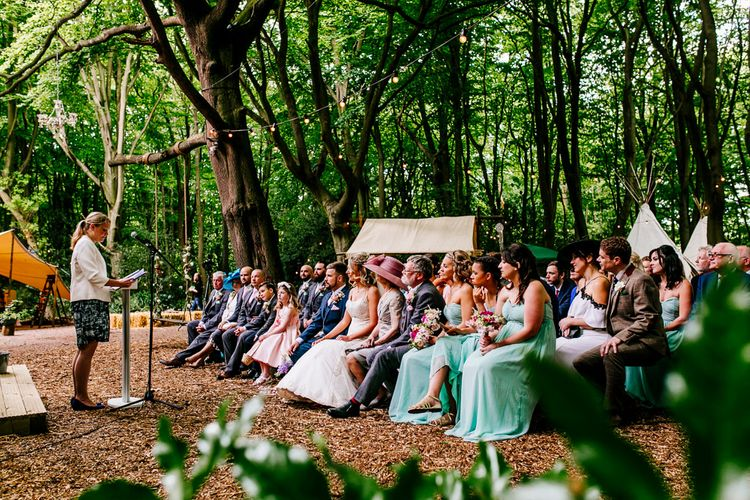 Bridesmaids   Outdoor Wedding Ceremony   Brightly Coloured Woodland Wedding   Epic Love Story Photography