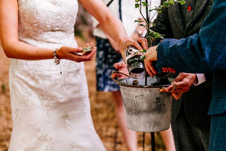 Tree Planting   Wedding Ceremony   Brightly Coloured Woodland Wedding   Epic Love Story Photography
