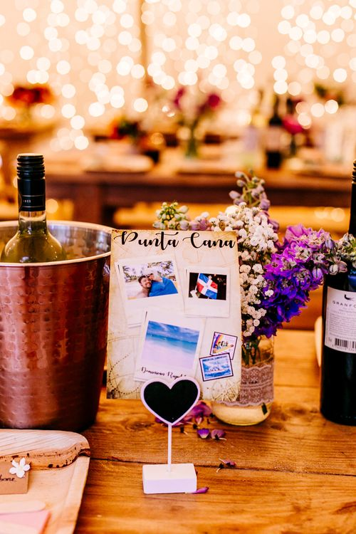 Table Names   Brightly Coloured Woodland Wedding   Epic Love Story Photography