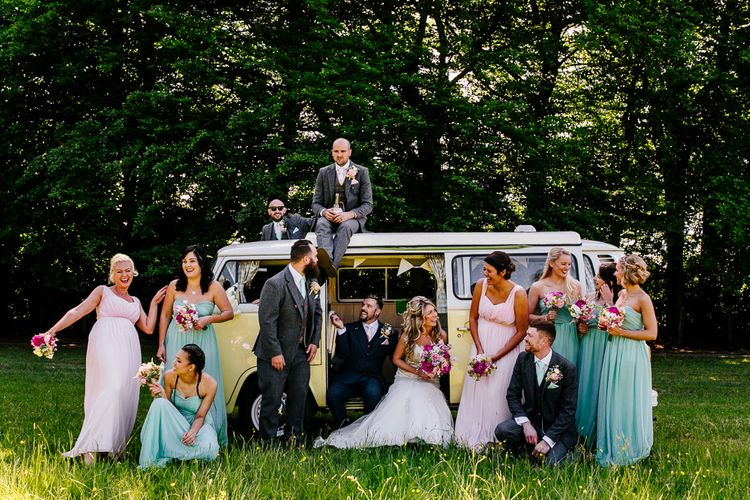 Buttercup Camper Van   Wedding Party   Epic Love Story Photography