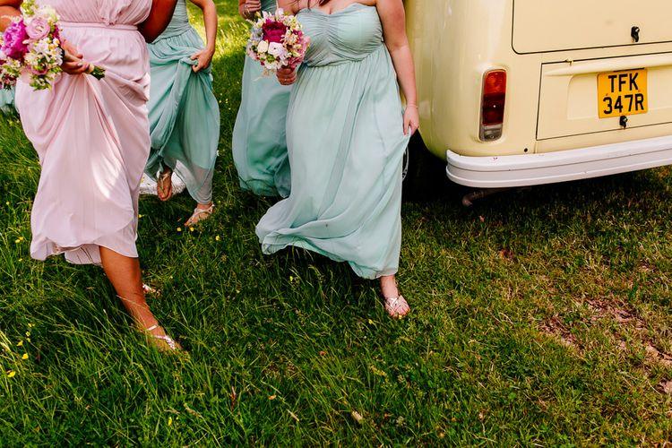 Bridesmaids   Brightly Coloured Woodland Wedding   Epic Love Story Photography
