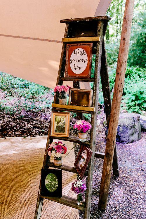 Vintage Step Ladder   Brightly Coloured Woodland Wedding   Epic Love Story Photography