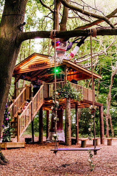 Tree House   Brightly Coloured Woodland Wedding   Epic Love Story Photography
