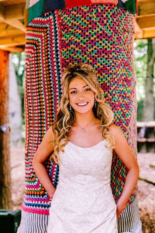 Bride in Anna Sorrano Gown   Brightly Coloured Woodland Wedding   Epic Love Story Photography