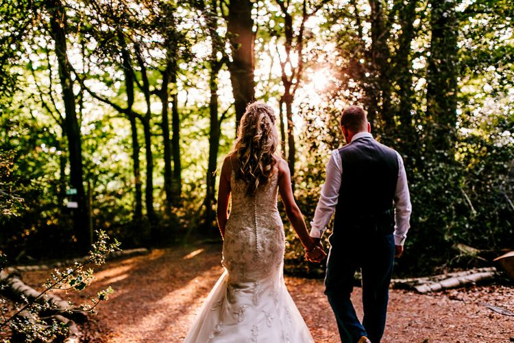 Sunset   Bride in Lace Anna Sorrano Gown   Groom in Tweed Vintage Suit Hire Suit   Epic Love Story Photography