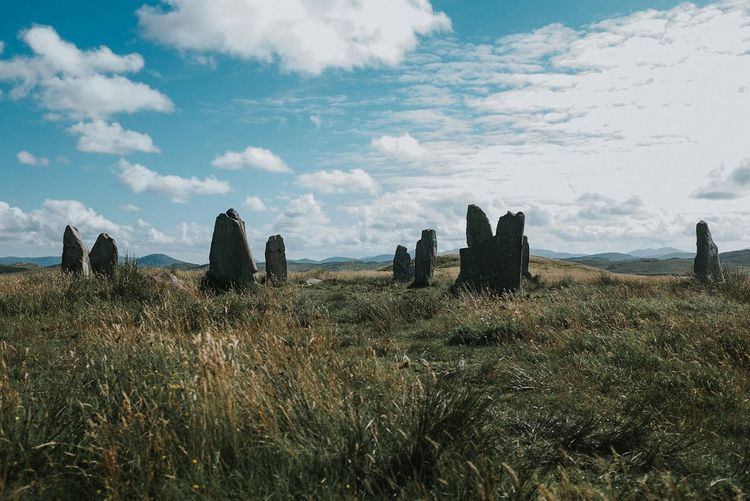 Isle Lewis Outer Hebrides Standing Stones