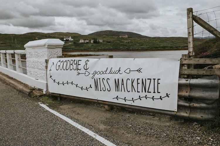 Isle Lewis Outer Hebrides Wedding Sign