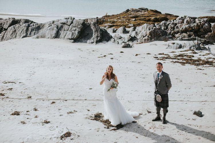 Bride & Groom Isle Lewis Outer Hebrides Wedding
