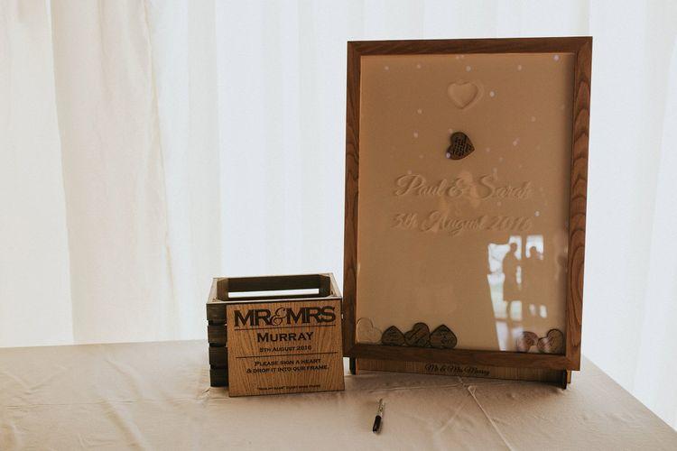 Wooden Heart Frame Alternative Guest Book