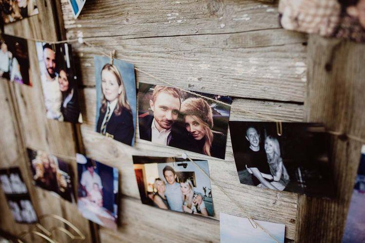 Polaroids Of Couple For Wedding Decor
