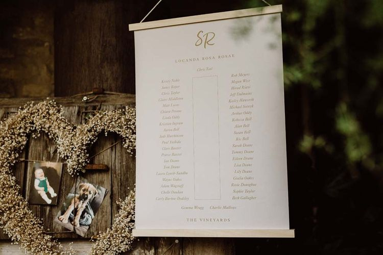 Simple Yet Striking Table Plan For Outdoor Reception