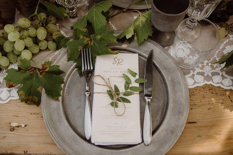 Elegant Place Setting For Destination Wedding