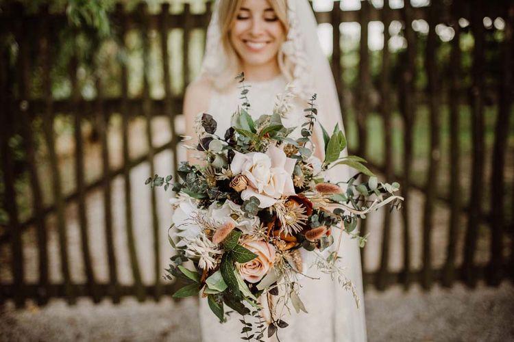 Dried & Silk Flower Wedding Bouquet