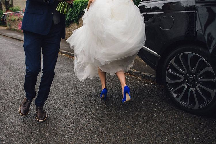 Blue Manolo Blahnik Shoes