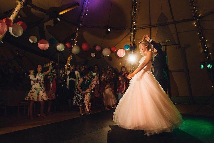 Bride & Groom First Dance Portrait