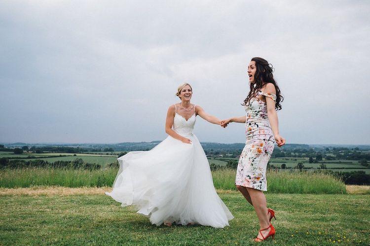 Bride in Mori Lee Wedding Dress