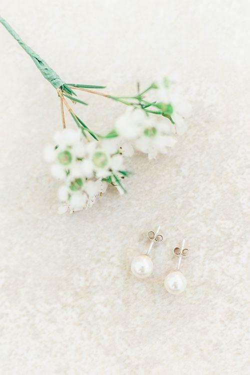 Pearl Earrings | Something Old & Borrowed