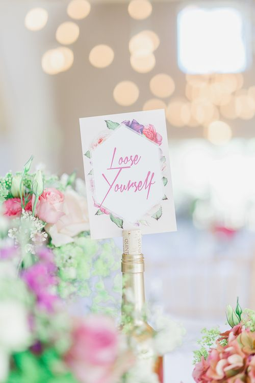 Floral Table Name Signs
