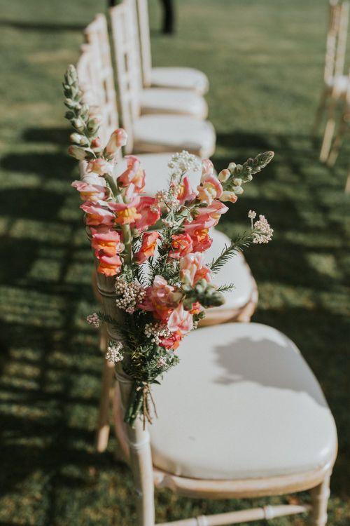 Floral Chair Back For Wedding