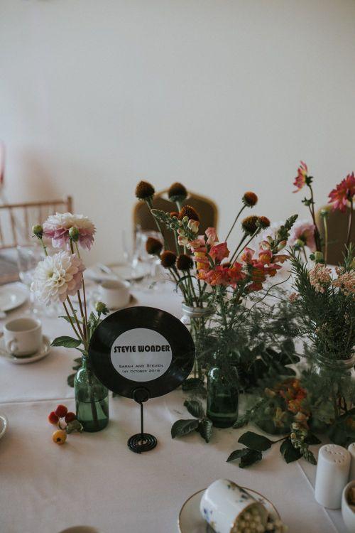 Vinyl Inspired Wedding Decor