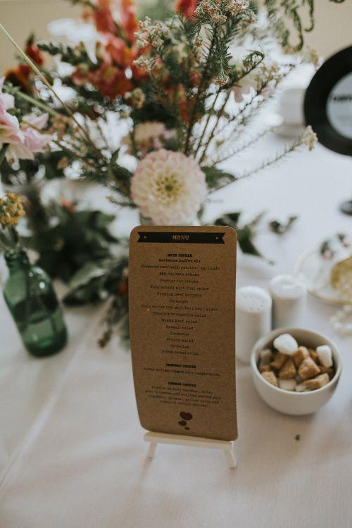 Rustic Menu For Wedding