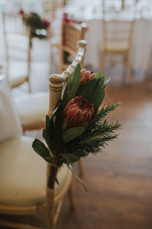 Protea Chair Backs For Wedding
