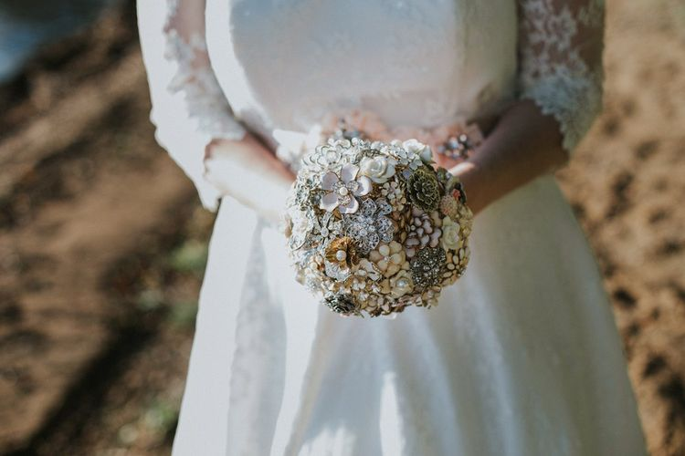 Bouquet Made From Brooches & Jewellery
