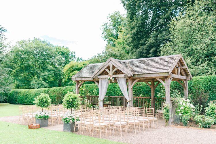 Outdoor Pavilion Wedding Ceremony