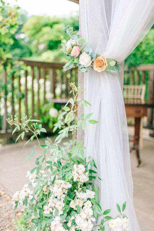 Outdoor Pavilion Wedding Ceremony Curtain