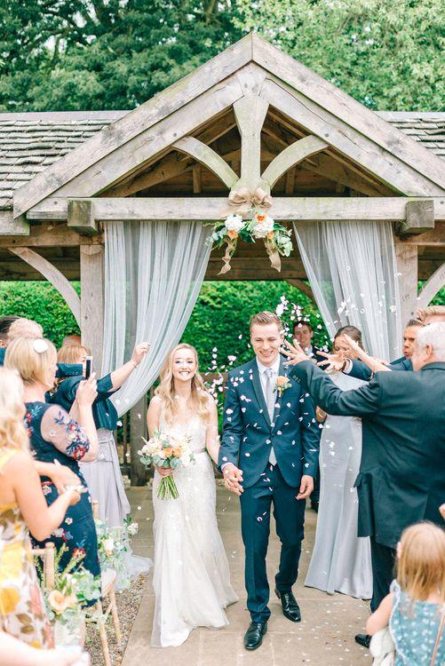 Outdoor Pavilion Wedding Ceremony Confetti