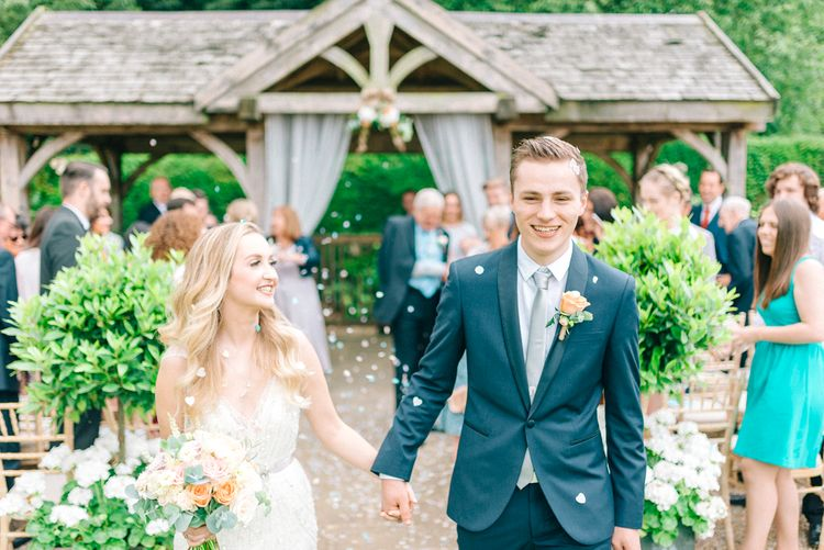 Outdoor Pavilion Wedding Ceremony Confetti Exit